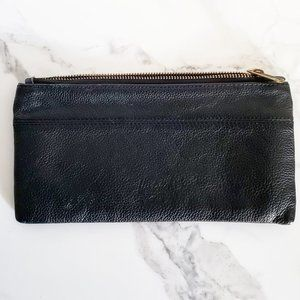 Herschel Supply Co. Black Pebbled Leather Pouch